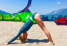 stretching exercice kitesurf entrainement meilleur Downward Facing Dog