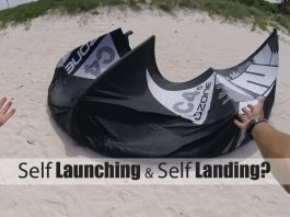 Kiteboarding How To: Self Launch and Self Land decoller une aile tout seul atterir how to